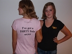 Ladies PINK I've Got a DIRTY little Secret Tee Shirt XL